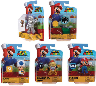 Super Mario World Of Nintendo 4 Inch Action Figure Wave 21 - Set of 5