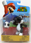 Super Mario World Of Nintendo 4 Inch Action Figure Wave 22 - Black Yoshi with Egg