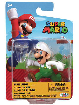 Super Mario 2.5 Inch Mini Figure World Of Nintendo Wave 25 - Fire Luigi