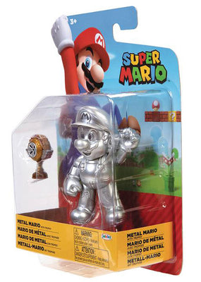 Super Mario World Of Nintendo 4 Inch Action Figure Wave 21 - Metal Mario