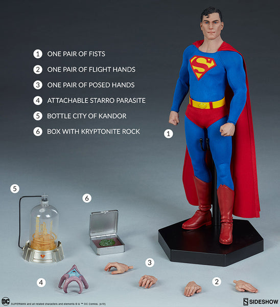 Superman 12 Inch Action Figure 1/6 Scale Series - Superman Sideshow 100224