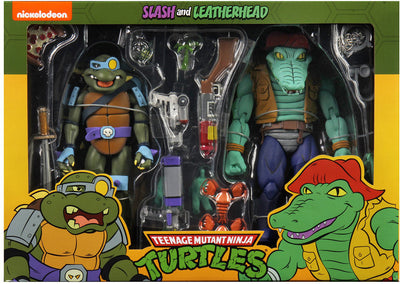 Teenage Mutant Ninja Turtles 7 Inch Action Figure 1980 Cartoon 2-Pack - Leatherhead & Slash