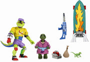 Teenage Mutant Ninja Turtles 1980 Cartoon 7 Inch Action Figure Ultimate Series - Mondo Gecko with Kerma