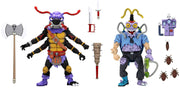 Teenage Mutant Ninja Turtles 1990 Cartoon 7 Inch Action Figure 2-Pack - Antrax & Scumbag