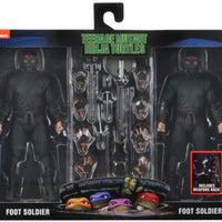 Teenage Mutant Ninja Turtles 1990 Movie 7 Inch Action Figure Exclusive - Foot Soldier with Weapons 2-Pack
