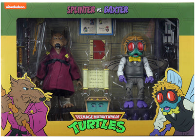 Teenage Mutant Ninja Turtles Cartoon Series 7 Inch Action Figure 2-Pack Exclusive - Splinter & Baxter