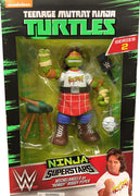 Teenage Mutant Ninja Turtles WWE 7 Inch Action Figure - Michelangelo as Rowdy Roddy Piper
