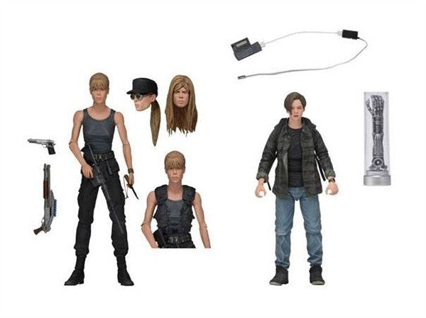 Terminator 2 7 Inch Action Figure 2-Pack - Sarah Connor and John Connor