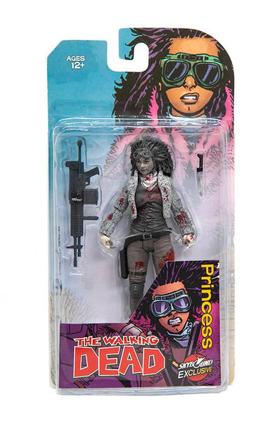 The Walking Dead 6 Inch Action Figure Comic Series - Princess Black & White Bloody Version