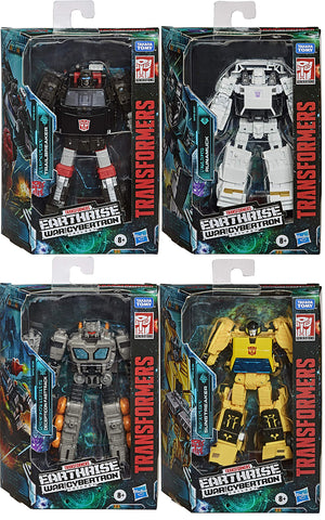 Transformers Earthrise War For Cybertron 6 Inch Action Figure Deluxe Class (2020 Wave 3) - Set of 4