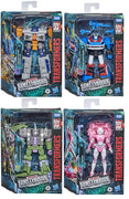 Transformers Earthrise War For Cybertron 6 Inch Figure Deluxe Class - Set of 4 (Allicon - Arcee - Airwave - Smokescreen)