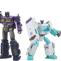 Transformers Generations Selects War For Cybertron Deluxe & Voyager Class - Shattered Glass Ratchet & Optimus Prime
