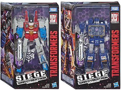 Transformers Siege War For Cybertron 7 Inch Action Figure Voyager Class - Set of 2 (Starscream - Soundwave)