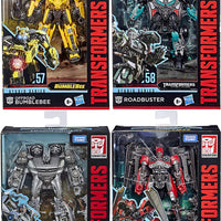 Transformers Studio Series 6 Inch Figure Deluxe Class - Set of 4 (Offroad Bumblebee - Roadbuster - Shatter - Soundwave)