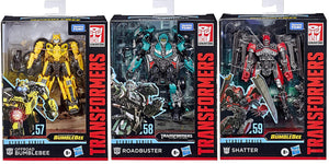 Transformers Studio Series 6 Inch Action Figure Deluxe Class - Set of 3 (Offroad Bumblebee - Roadbuster - Shatter)