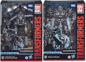 Transformers Studio Series 7 Inch Action Figure Voyager Class - Set of 2 (Mixmaster - Megatron)