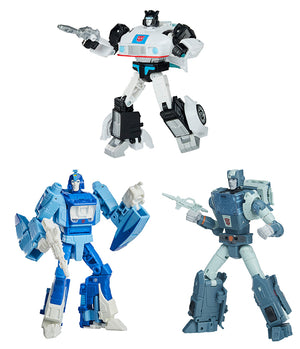 Transformers Studios Series 5 Inch Action Figure Deluxe Class (2021 Wave 1) - Set of 3 (Jazz - Kup - Blurr)