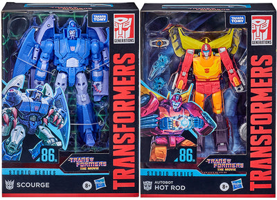 Transformers Studios Series 6 Inch Action Figure Voyager Class (2021 Wave 1) - Set of 2 (Hot Rod - Scourge)