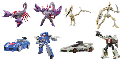 Transformers War For Cybertron Kingdom 6 Inch Action Figure Deluxe Class Wave 3 - Set of 4