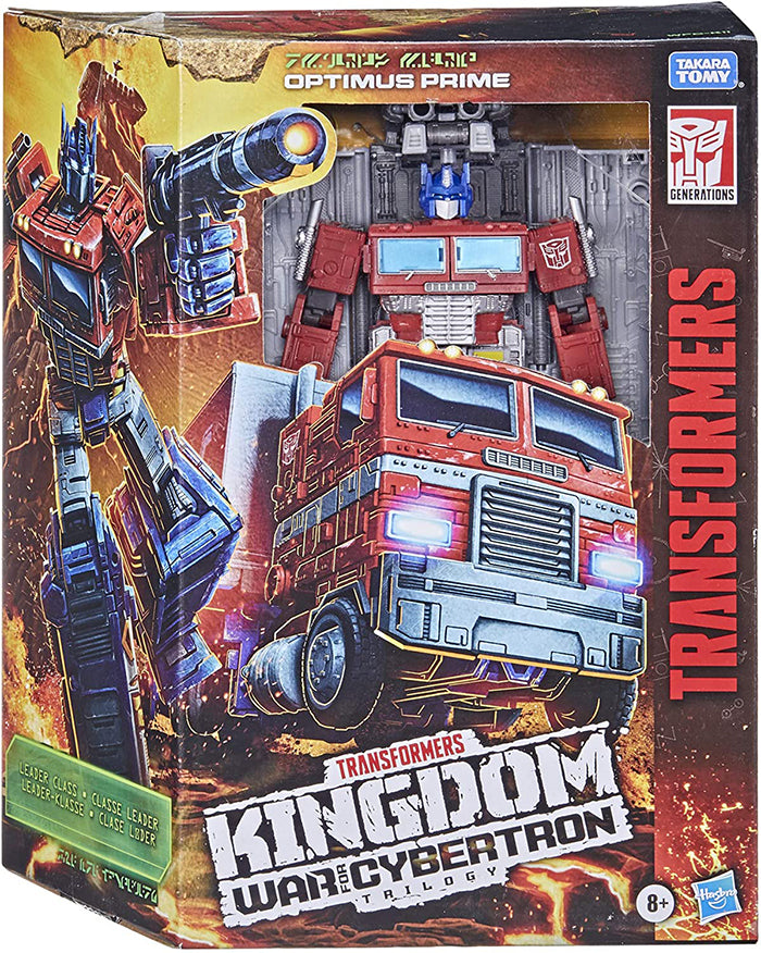 Transformers War For Cybertron Kingdom 8 Inch Action Figure Leader Class Wave 1 - Optimus Prime (Refresh)