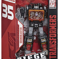 Transformers War For Cybertron Siege 35th Anniversary 7 Inch Figure Voyager Class - Soundblaster WFC-S63 Exclusive