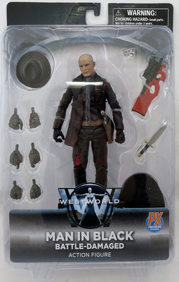 Westworld 7 Inch Action Figure Select Series - Man In Black Battle Damaged