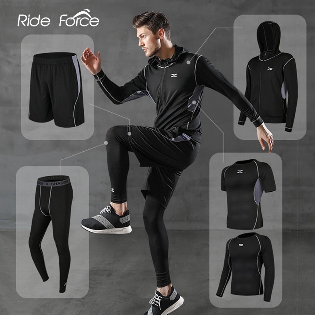 5 Pcs Men Tracksuit Set