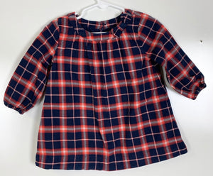 Baby Gap Plaid Dress Size 12-18 Months