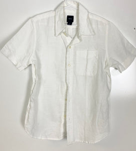 Gap Kids Short Sleeved Button Down Shirt Size 8