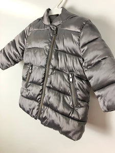 Baby Gap metalic hooded puffer coat size 12-18 months