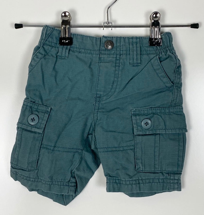 Tea Collection cotton cargo Shorts Size 12-18 Months