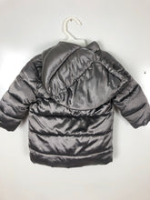 Load image into Gallery viewer, Baby Gap metalic hooded puffer coat size 12-18 months