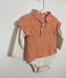 Baby Gap long sleeve polo onsie size 18-24 months