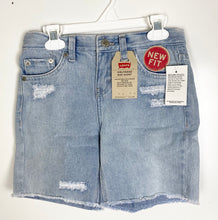Load image into Gallery viewer, Levi's girlfriend midi jean shorts size 12
