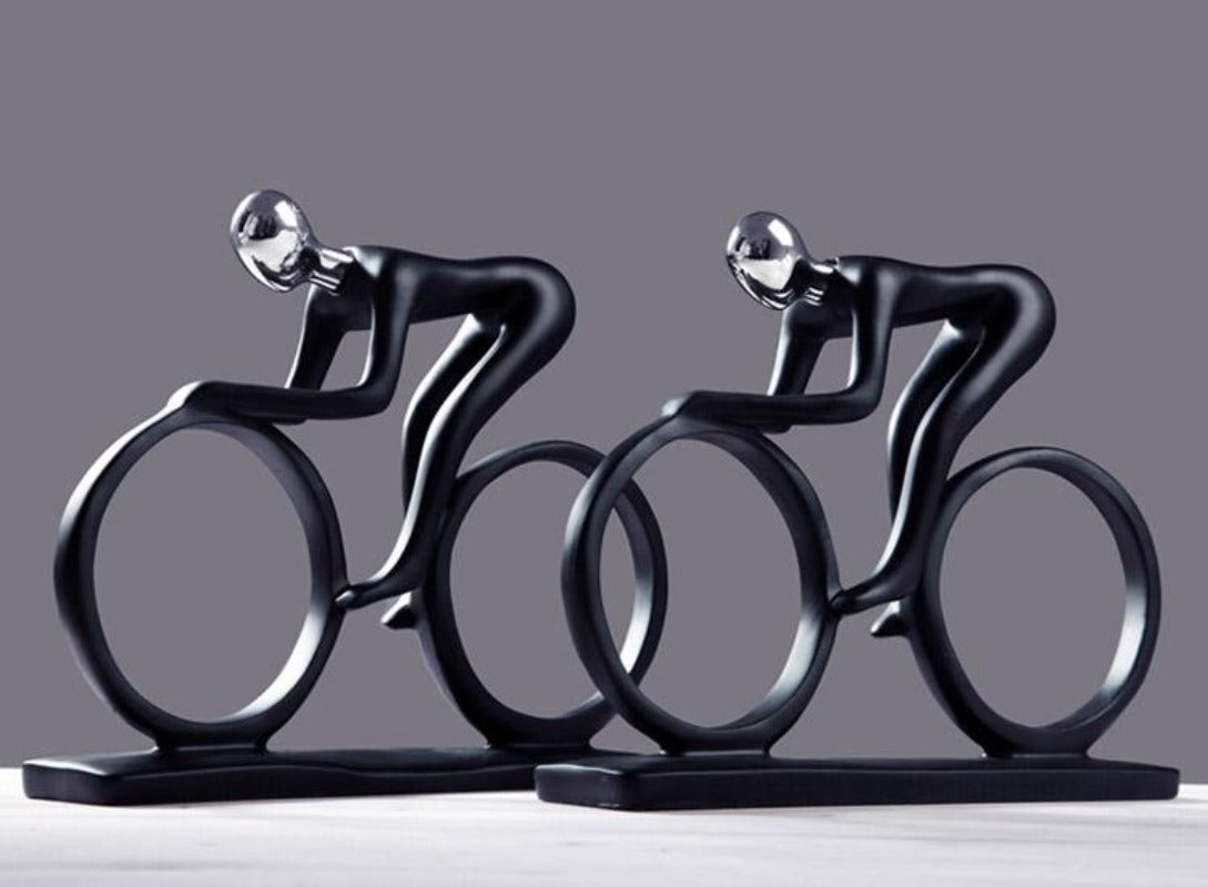 Modern Abstract Cyclist Sculpture Figurine Statue – imusthaveone.com