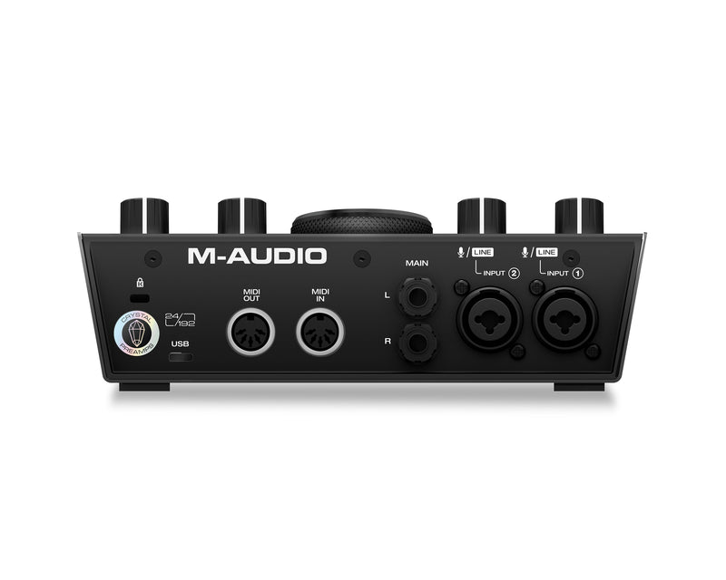 2-In/2-Out 24/192 USB Audio/MIDI Interface