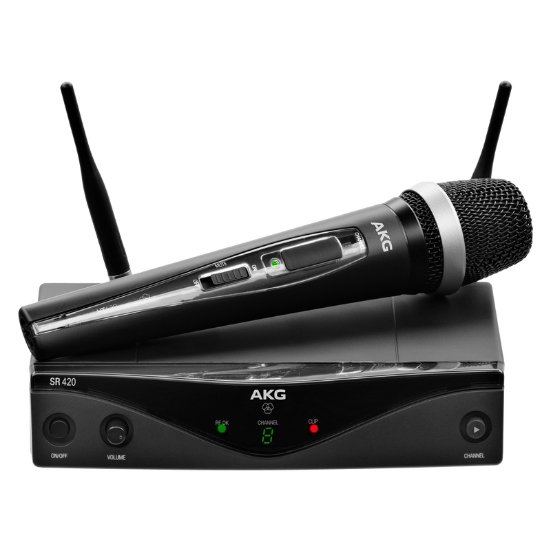 Professional wireless vocal microphone system