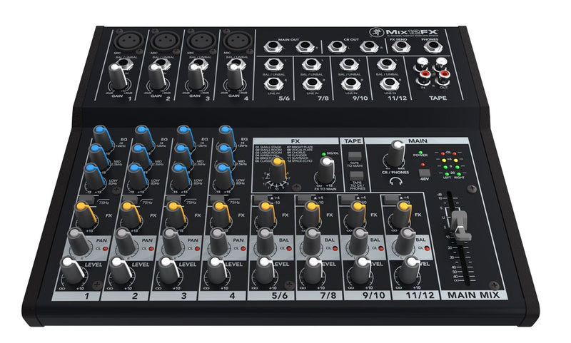 Compact 12 channels mixer with FX
