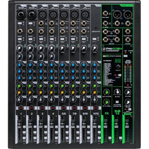 Compact 12 channels mixer with FX and USB