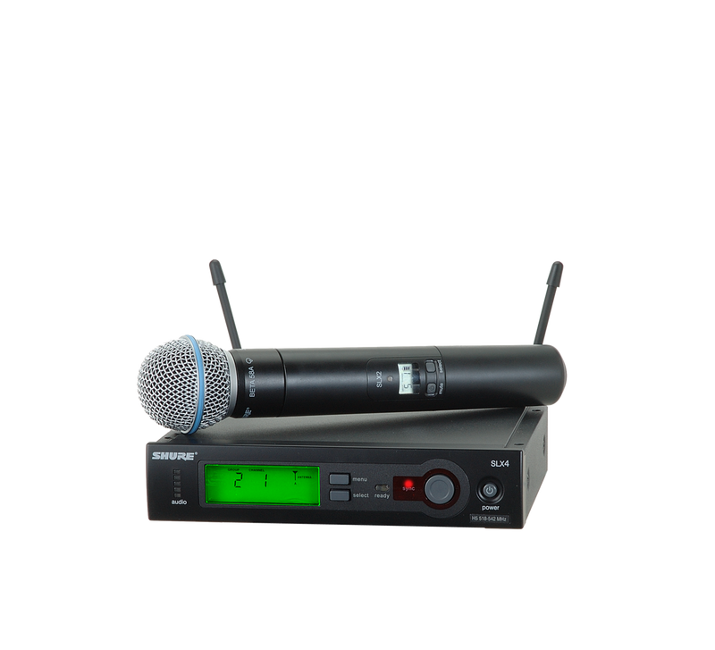 Wireless System with SLX2/BETA58 Handheld microphone