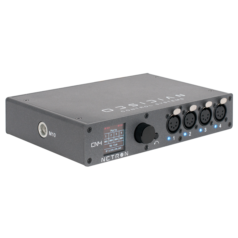 Ethernet to DMX gateway with 4 RDM compatible ports