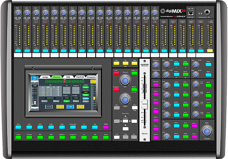 24 Inputs Digital Mixing Console
