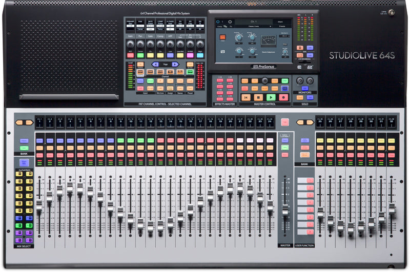 64-channel digital mixer and USB audio interface