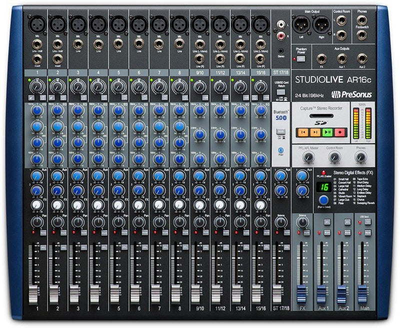 18-channel USB-C Audio Interface / Analog Mixer / Stereo SD Recorder