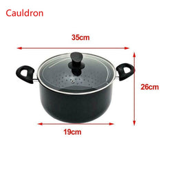 Cooking pot with built in strainer