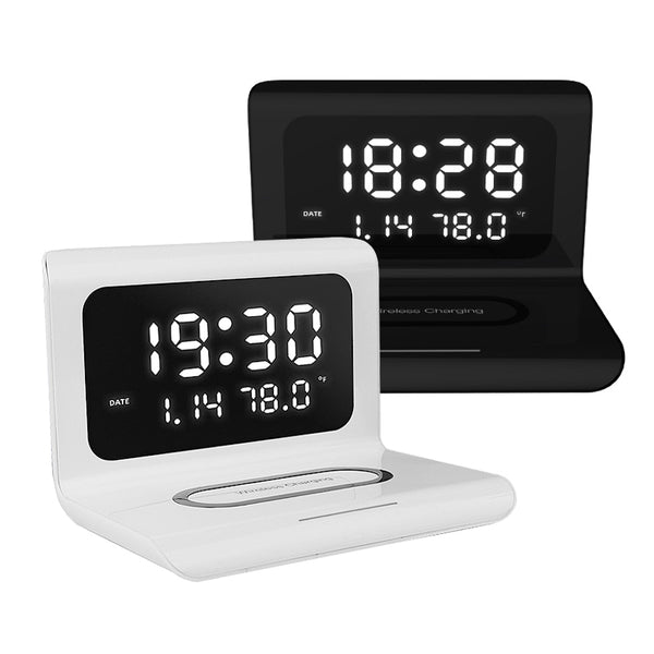 Wireless Phone Charger with Clock