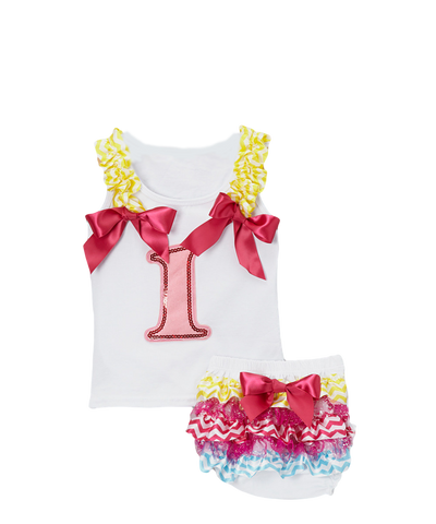 One 1 Birthday Tank & Diaper Cover Set
