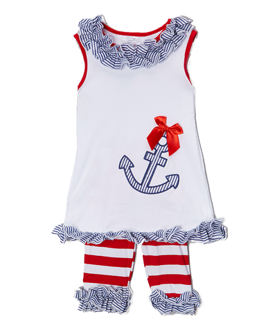 4th of July Anchor Tank & Short Set