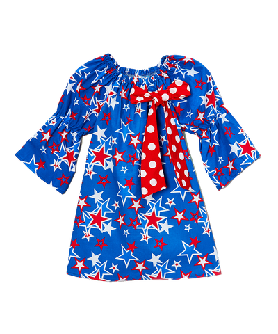 Blue Stars 4th of July Shift Dress