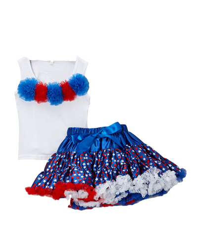4th of July Pettiskirt & Tank Tutu Set